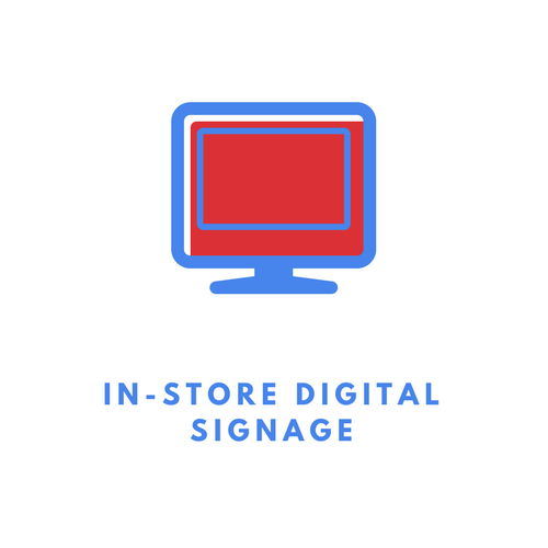 In-store digital signs