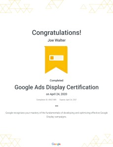 Google Ads Display Certification : Google